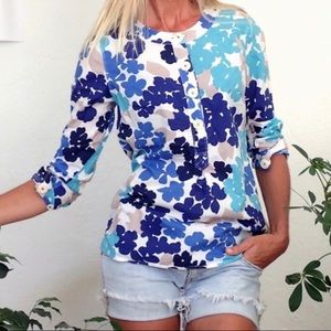 Boden Floral Print Long Sleeve Tunic Top Size 6